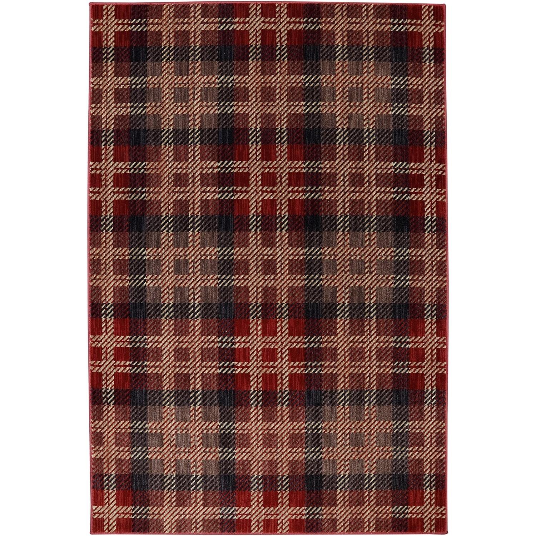 "Dryden 5' 3""x7' 10"" Billings Crimson Area Rug by American Rug Craftsmen at Alison Craig Home Furnishings"
