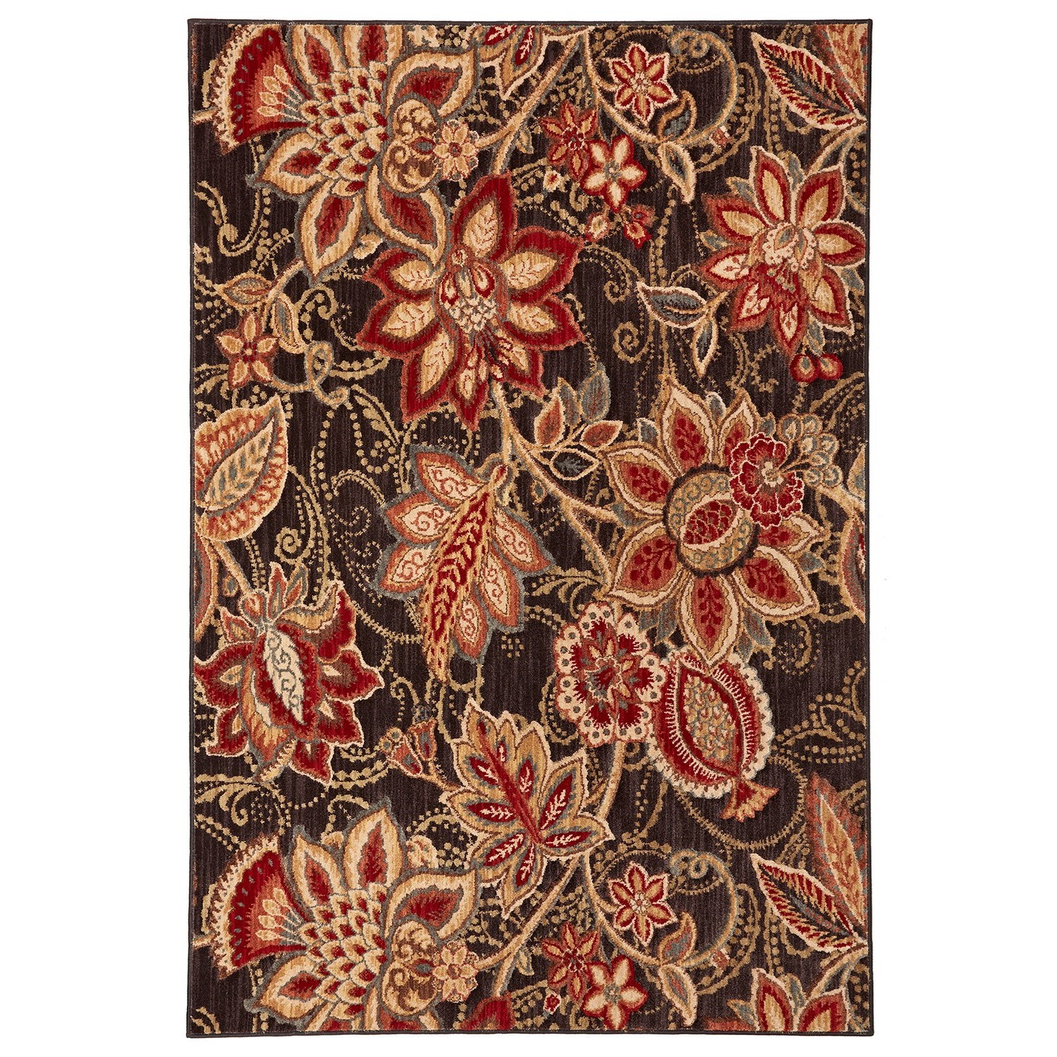 """Dryden 5' 3""""x7' 10"""" Concord Black Area Rug by American Rug Craftsmen at Alison Craig Home Furnishings"""