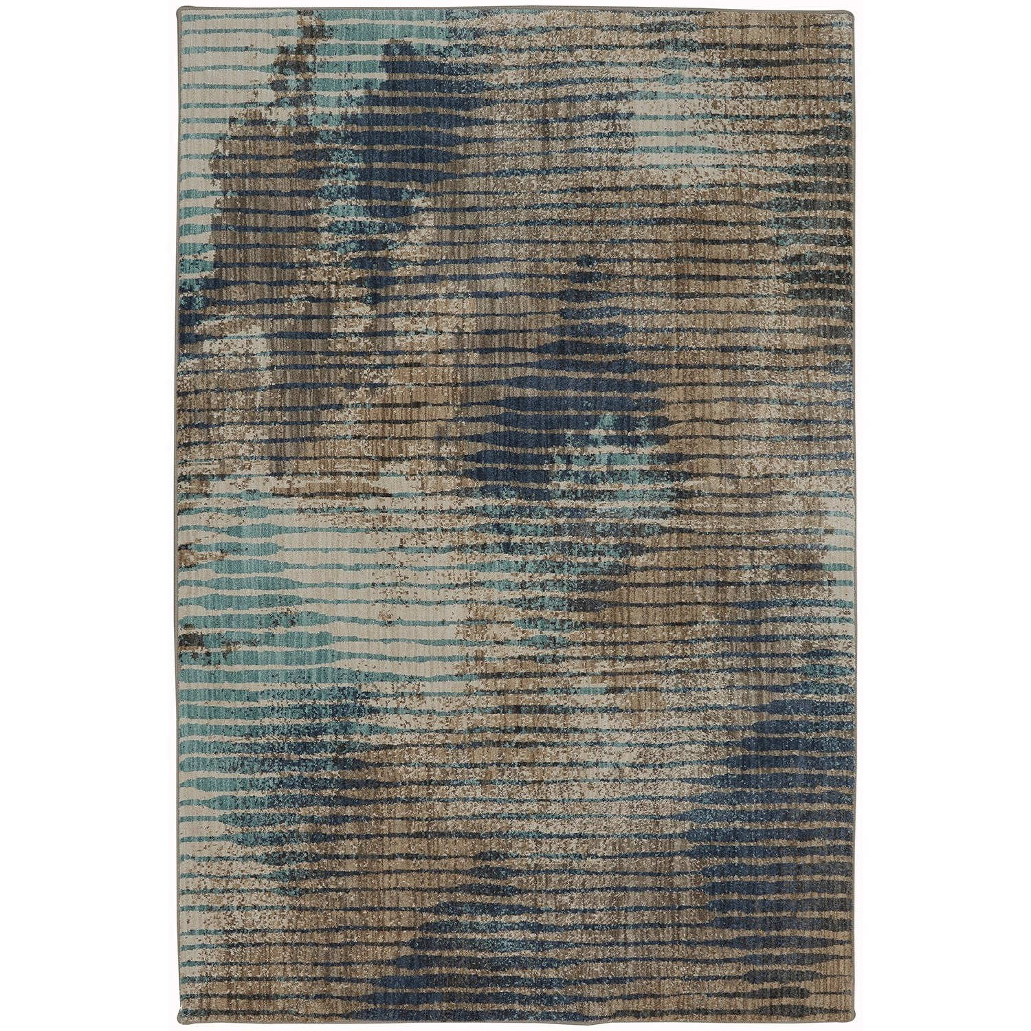 """Muse 5' 3""""x7' 10"""" Wireframe Lagoon Area Rug by American Rug Craftsmen at Alison Craig Home Furnishings"""