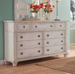 2410 Sedona Bedroom Antiqued Dresser by American Woodcrafters at Furniture Fair - North Carolina