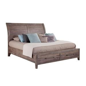 King Platform Bed with Storage Drawers