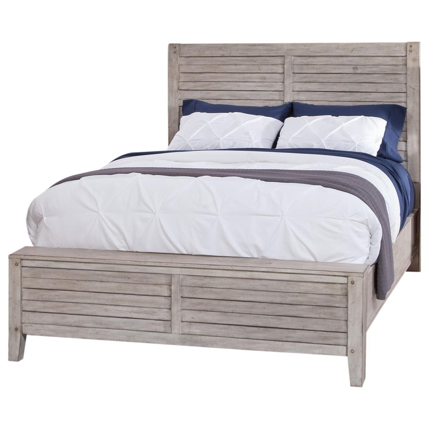 Aurora King Panel Bed by American Woodcrafters at Carolina Direct