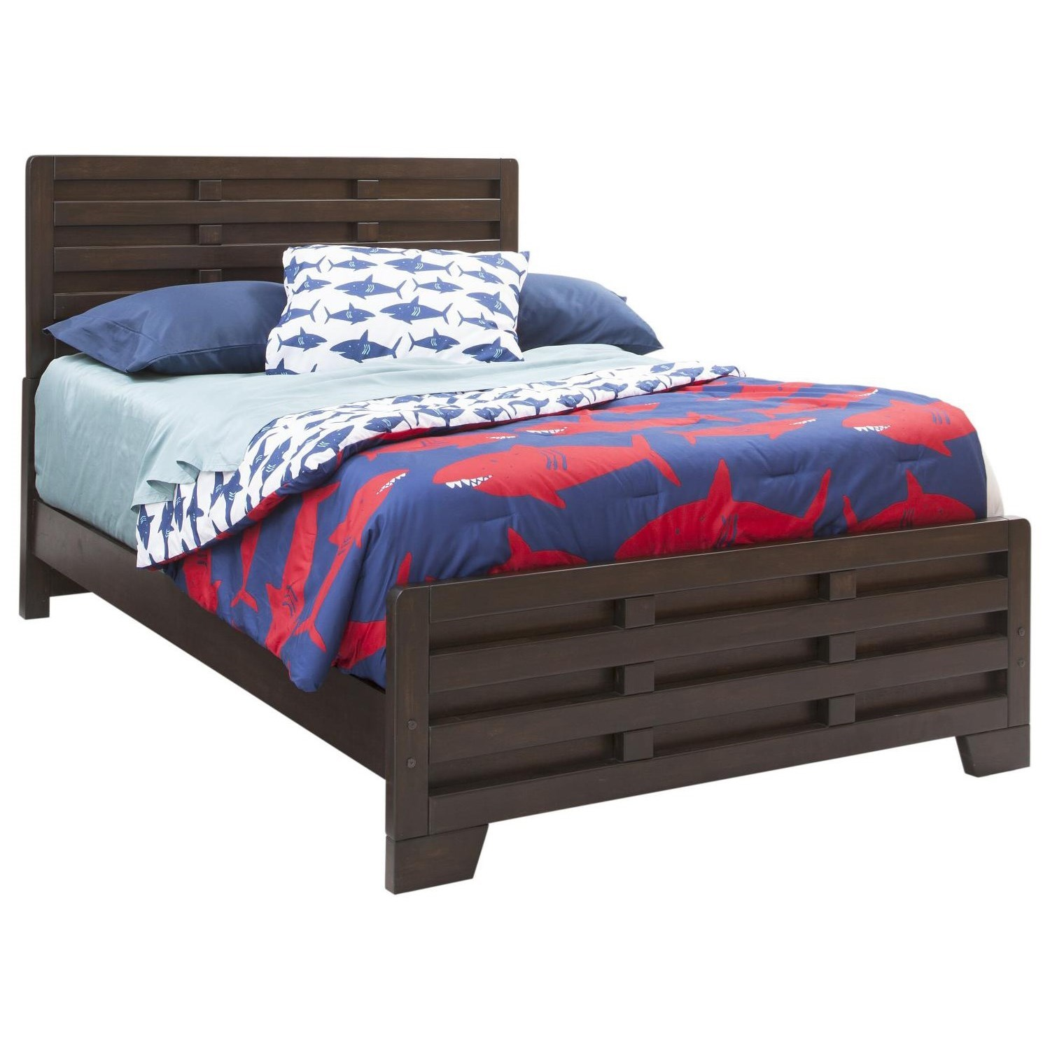Billings Full Panel Bed by American Woodcrafters at Carolina Direct