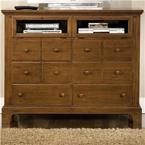 American Woodcrafters Bradford Youth Entertainment Dresser