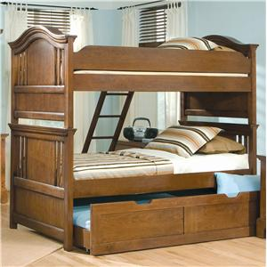 American Woodcrafters Bradford Youth Full Trundle Bunk Bed