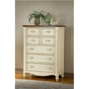 American Woodcrafters Chateau Five Drawer Chest