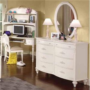 American Woodcrafters Cheri Dresser & Mirror Combo