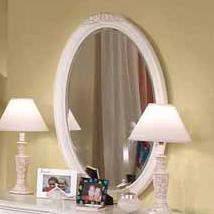 American Woodcrafters Cheri Oval Mirror