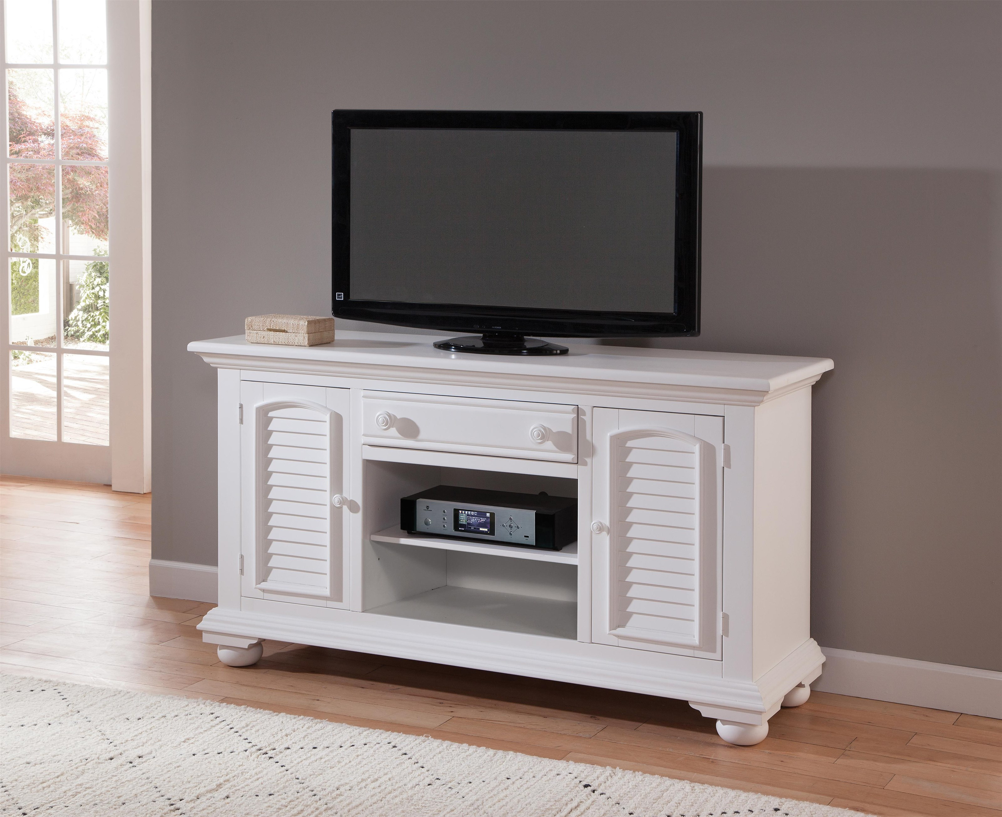 Cottage Traditions 60 Inch Entertainment Center by American Woodcrafters at Johnny Janosik
