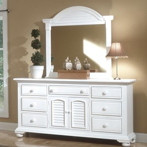 Triple Dresser and Mirror Combo