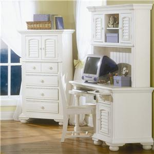 American Woodcrafters Cottage Traditions Youth Desk with Hutch