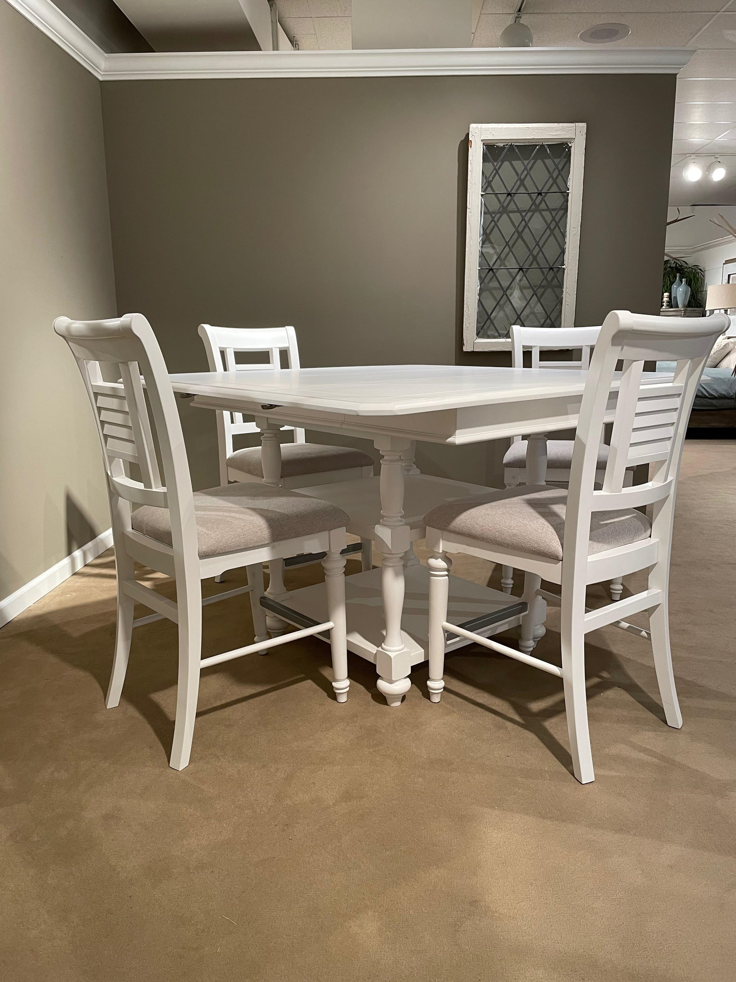 Cottage Traditions Gathering Height Table by American Woodcrafters at Johnny Janosik