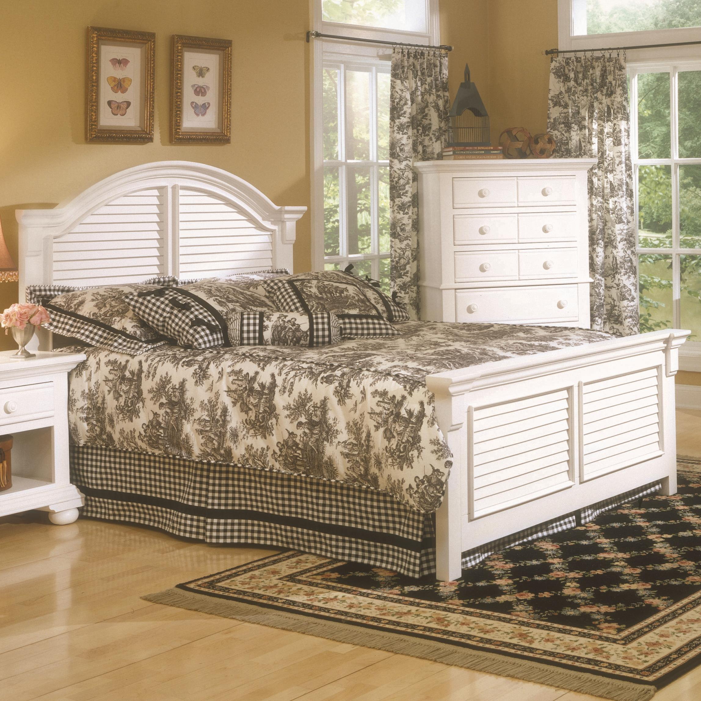 Cottage Traditions King Panel Bed by American Woodcrafters at Furniture Fair - North Carolina