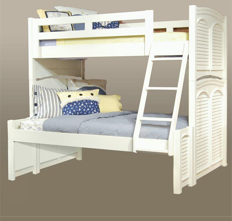 Cottage Traditions Twin over Full Bunk by American Woodcrafters at Johnny Janosik