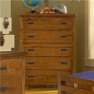 American Woodcrafters Heartland  Five Drawer Chest