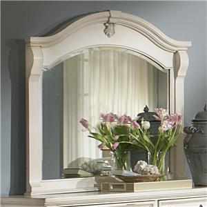 Landscape Mirror with Arched and Moulded Top