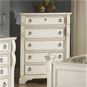 American Woodcrafters Heirloom Five Drawer Chest
