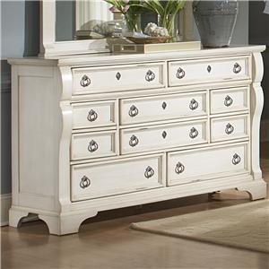American Woodcrafters Heirloom Triple Dresser