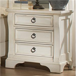American Woodcrafters Heirloom Three Drawer Nightstand