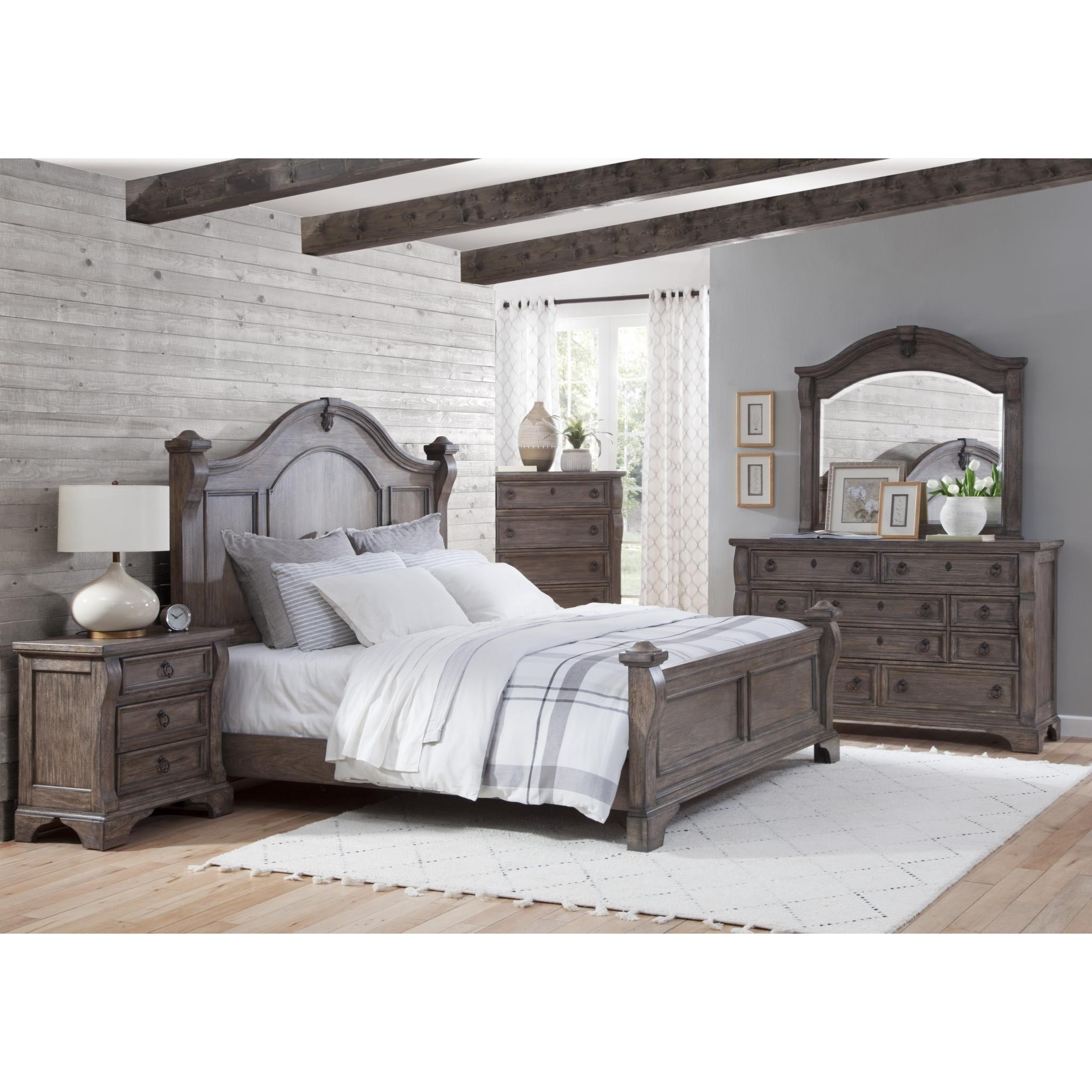 Heirloom Queen Bedroom Group by American Woodcrafters at Carolina Direct