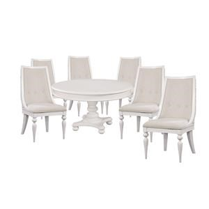 Oval Pedestal Table and Side Chair