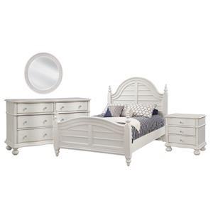 Queen Bed, Bureau, Mirror, Nightstand