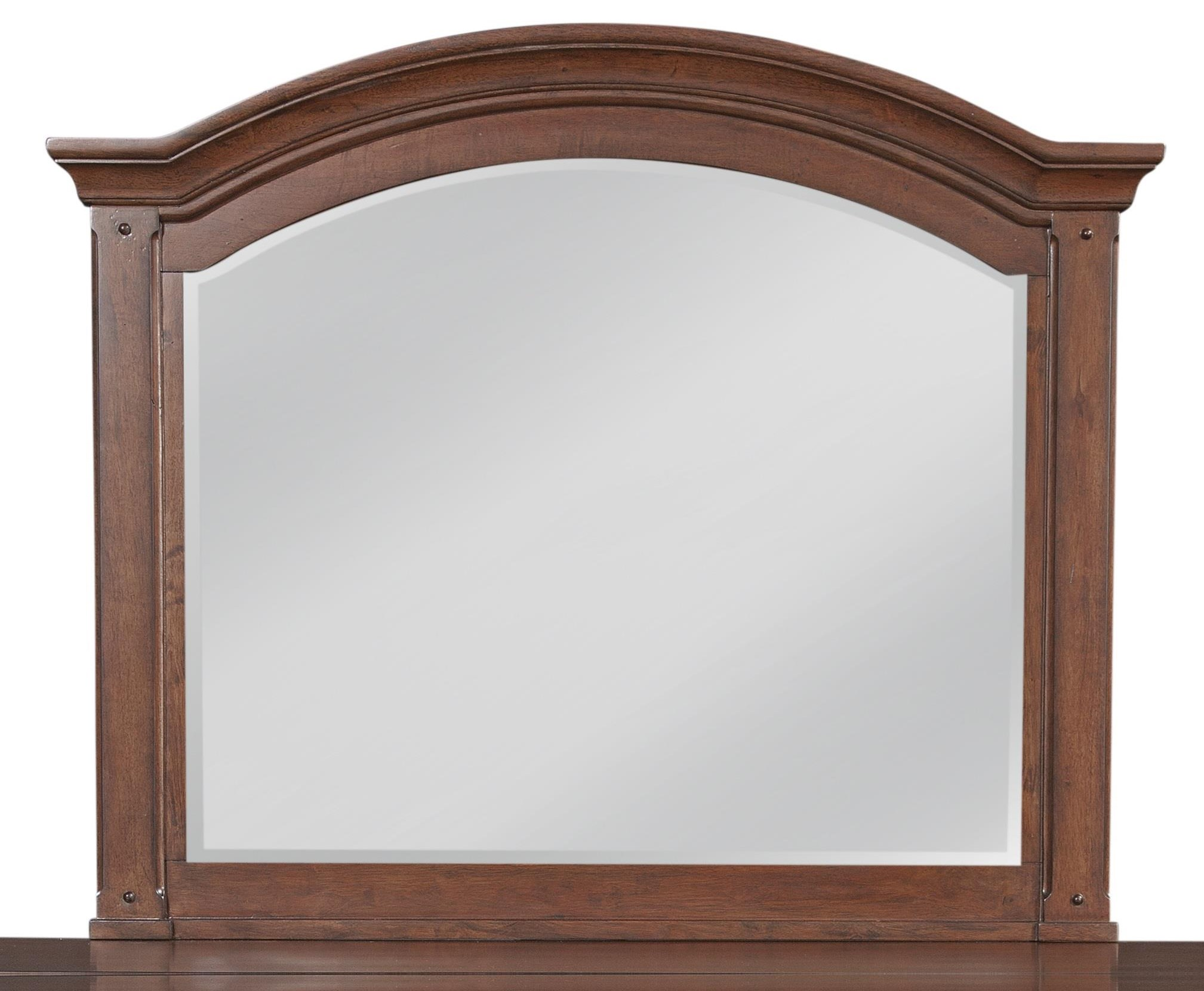 Sedona Cherry Landscape Mirror by American Woodcrafters at Johnny Janosik