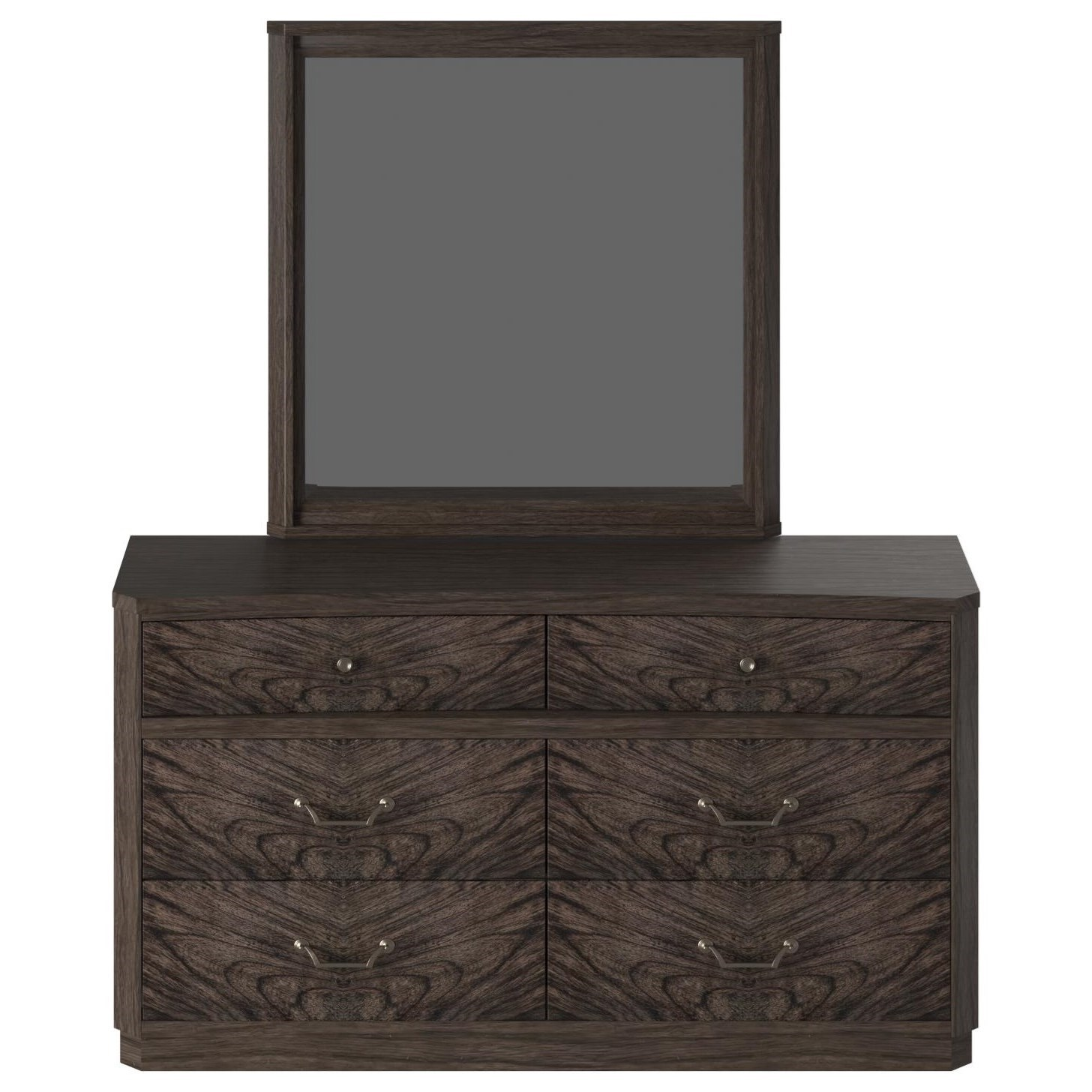 Silhouette Dresser and Mirror Set by American Woodcrafters at Carolina Direct