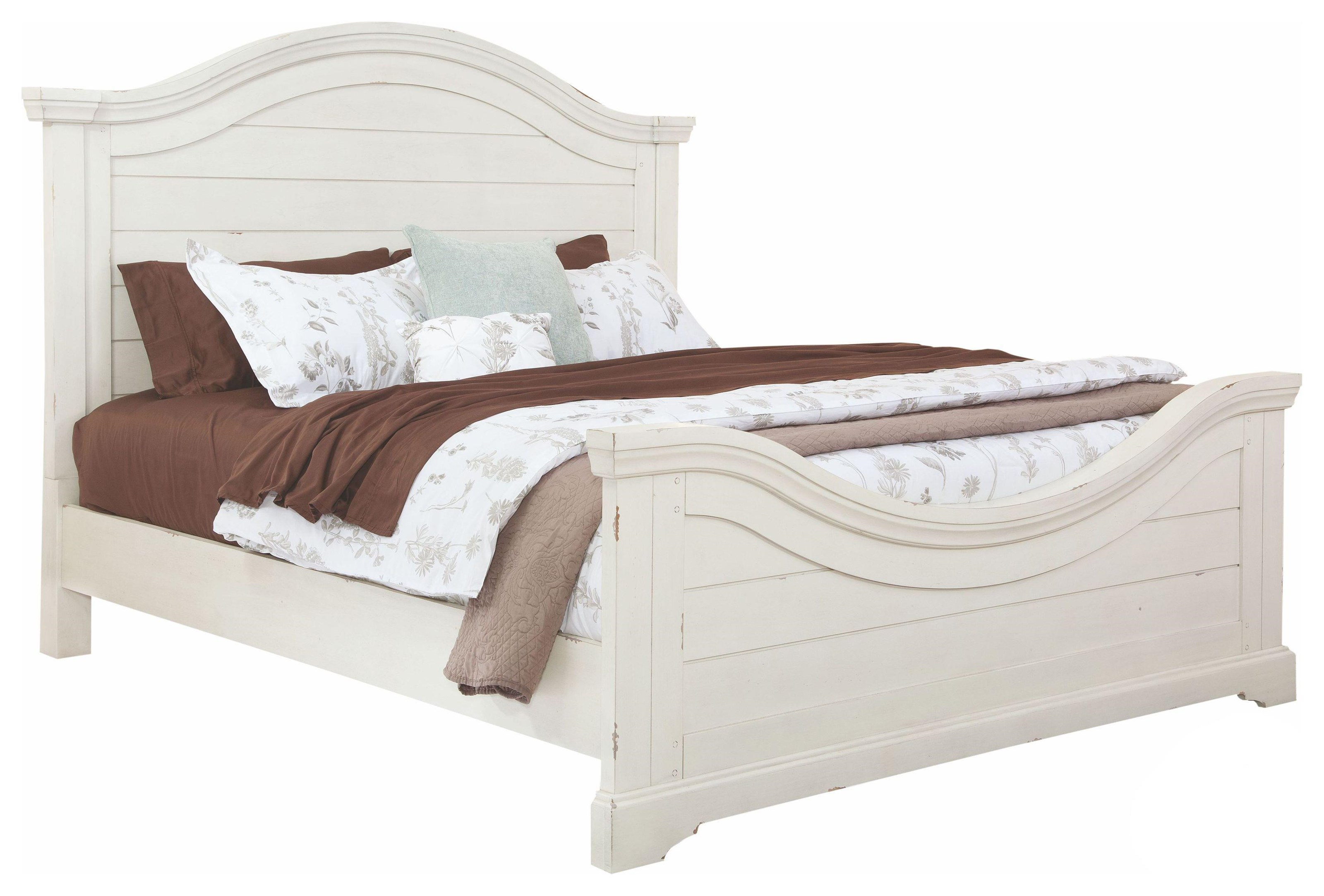 Stonebrook King Panel Bed by American Woodcrafters at Johnny Janosik