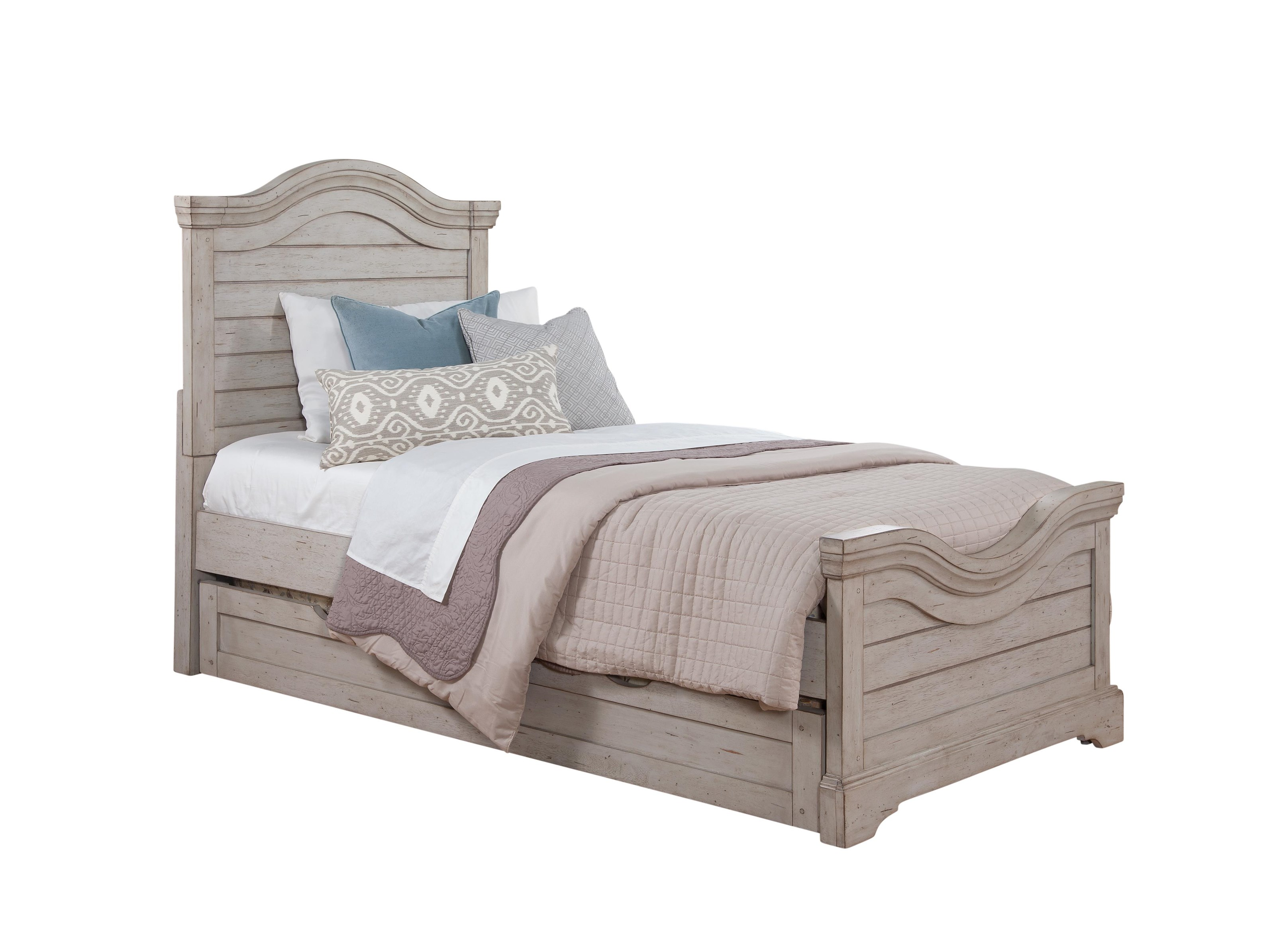 Stonebrook Youth in Antique Gray Twin Panel Bed by American Woodcrafters at Johnny Janosik