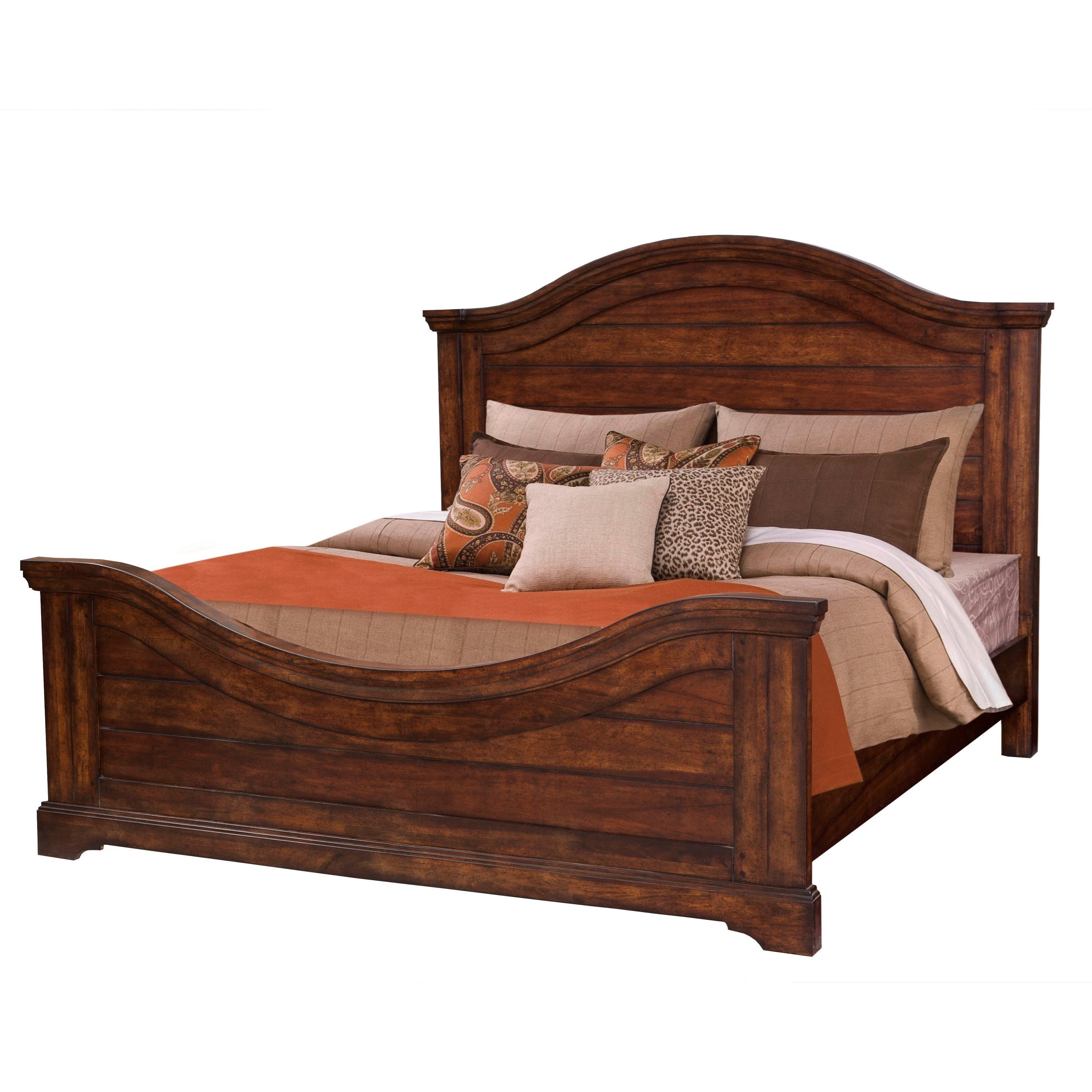 Stonebrook Queen Panel Bed by American Woodcrafters at Johnny Janosik