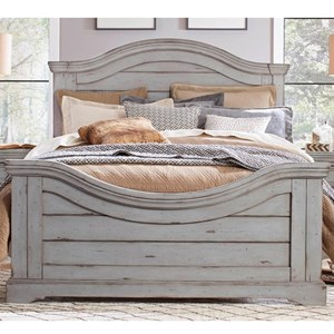 Queen Panel Bed with Arched Headboard