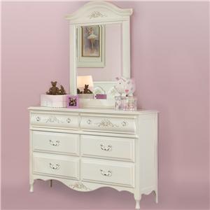 American Woodcrafters Summerset Dresser & Mirror Combo