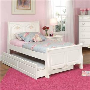 American Woodcrafters Summerset Twin Sleigh Bed with Trundle
