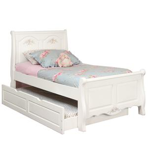 American Woodcrafters Summerset Full Sleigh Bed