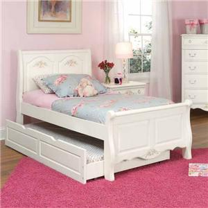 American Woodcrafters Summerset Full Sleigh Bed with Trundle
