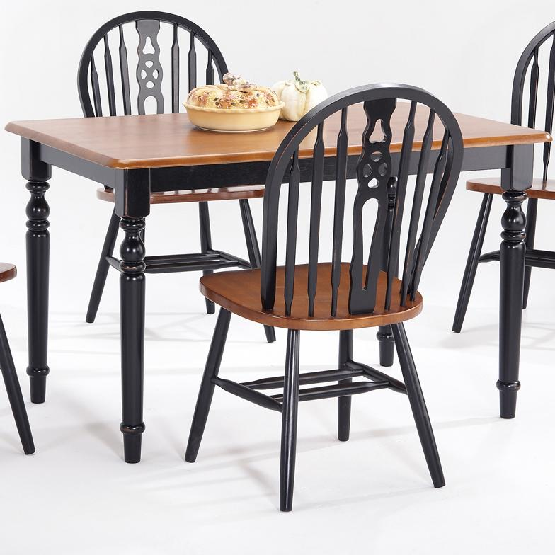 Farmhouse and Traditional Windsor Rectangular Table by Amesbury Chair at Dinette Depot