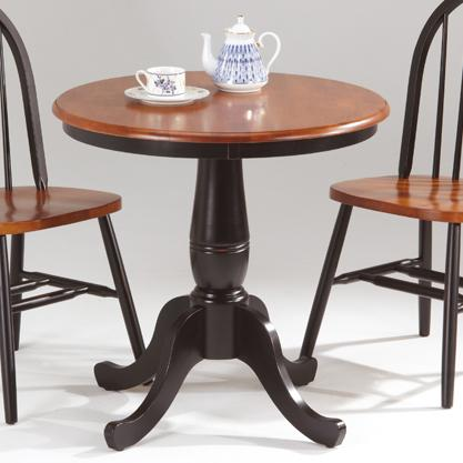Farmhouse and Traditional Windsor Round Pedestal Table by Amesbury Chair at Dinette Depot