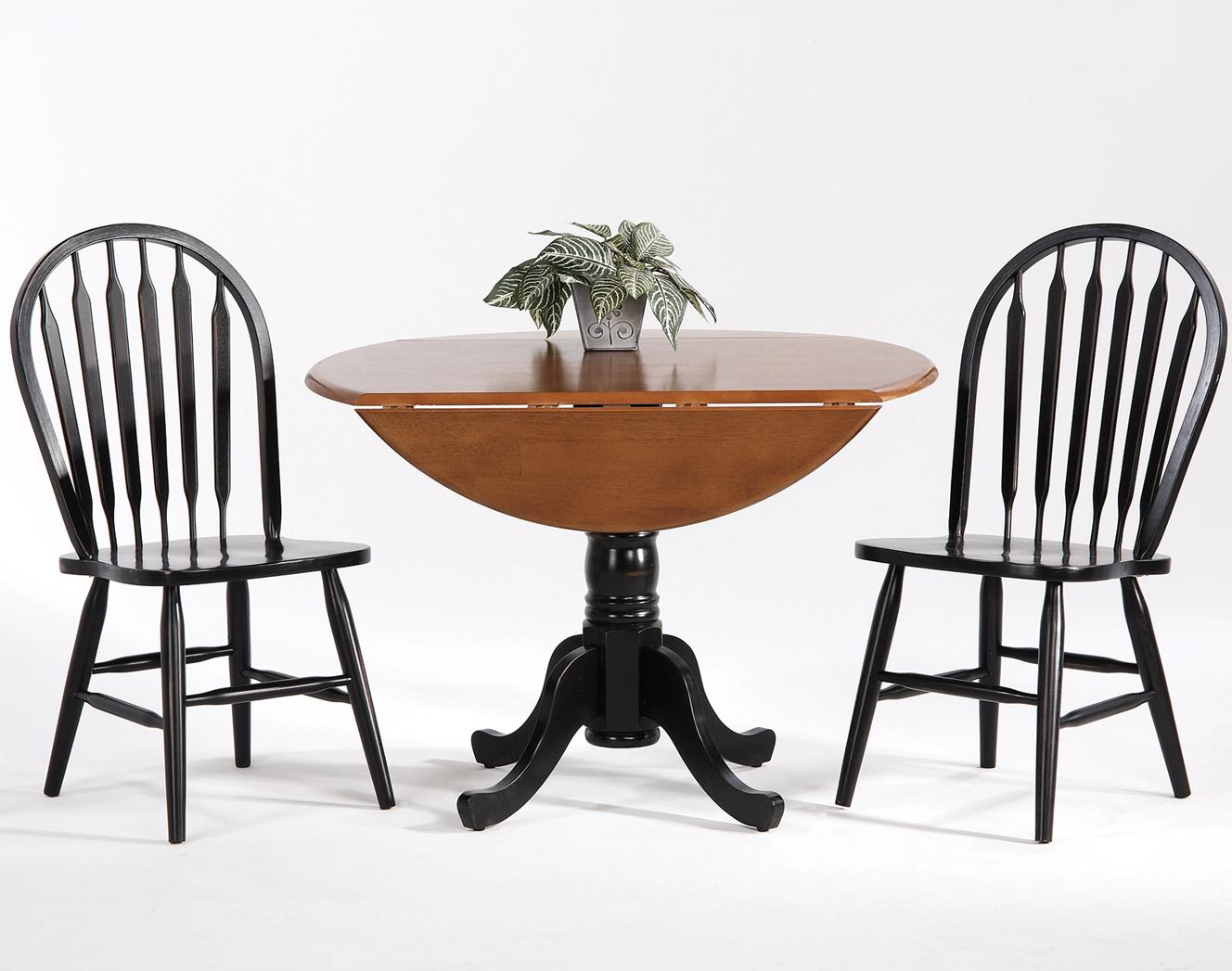 Farmhouse and Traditional Windsor Drop Leaf Table w/ Side Chairs by Amesbury Chair at Dinette Depot