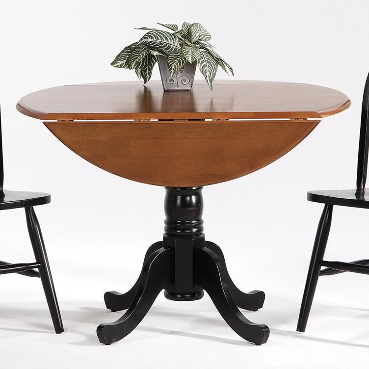 Farmhouse and Traditional Windsor Drop Leaf Pedestal Table by Amesbury Chair at Dinette Depot
