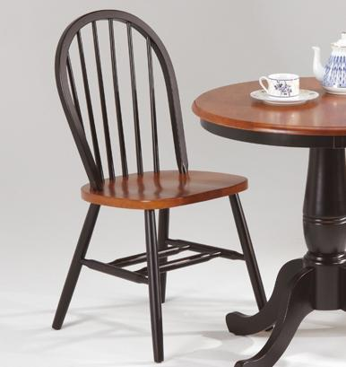 Farmhouse and Traditional Windsor Dowelback Side Chair by Amesbury Chair at SuperStore