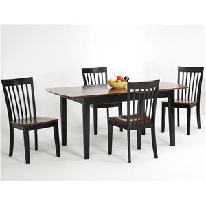 Amesbury Chair Newbury and Kensington Contemporary Dining Sets 5 Piece Table and Chair Set