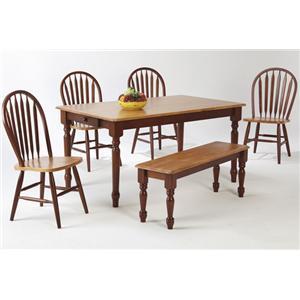 Amesbury Chair Newbury and Kensington Contemporary Dining Sets 6-Piece Dining Set