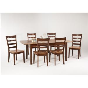 Amesbury Chair Newbury and Kensington Contemporary Dining Sets 7 Piece Dining Table and Chair Set