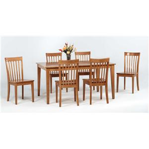 Amesbury Chair Newbury and Kensington Contemporary Dining Sets 7 Piece Table and Chair Set