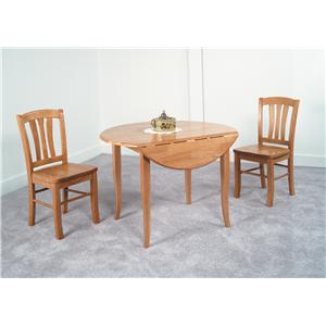 Amesbury Chair Newbury and Kensington Contemporary Dining Sets 3 Piece Table and Chair Set