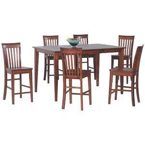 Amesbury Chair Pub Sets 7-Piece Butterfly Leaf Pub Table Set