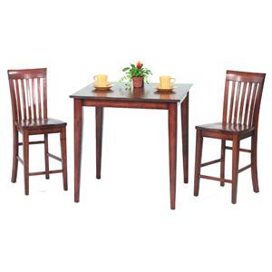 Amesbury Chair Pub Sets 3-Piece Solid Top Pub Table Set