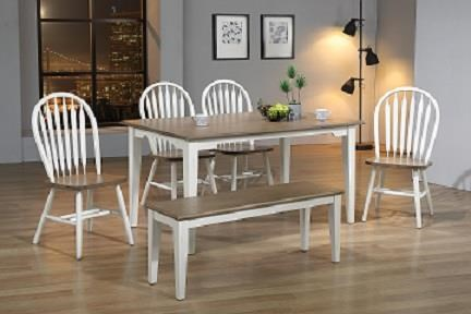 """white wash and sandstone 36"""" x 60"""" Rectangular with Beveled Edges by Amesbury Chair at Dinette Depot"""