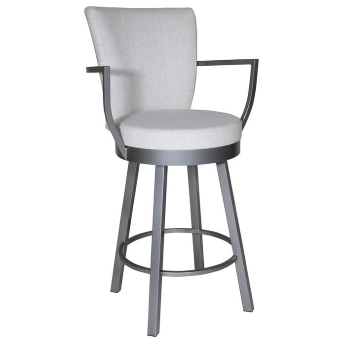 Boudoir Counter Height Cardin Swivel Stool by Amisco at Upper Room Home Furnishings